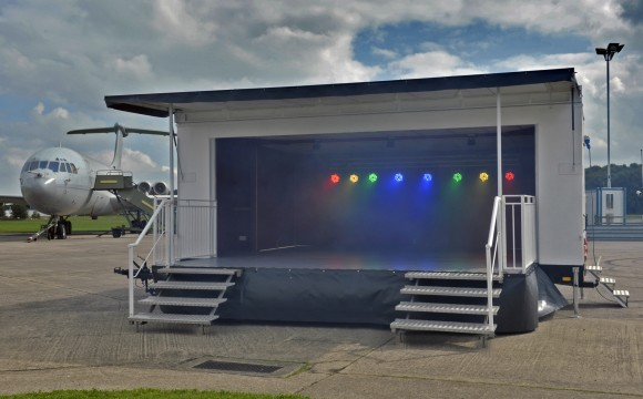 Outdoor covered staging for Hire